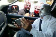 Luchadores de la calle en Tijuana