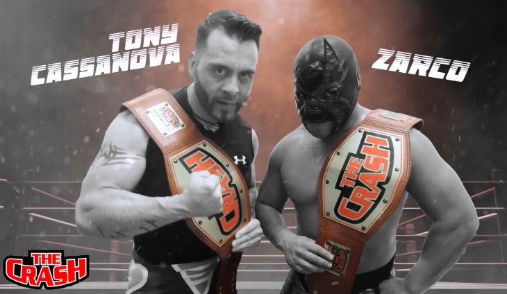 Tony Cassanova & Zarco actuales campeones de pareja The Crash