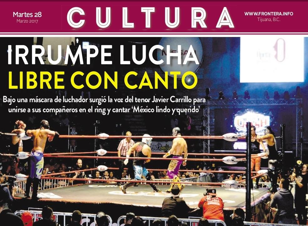 Ópera ambulante del Cecut irrumpe en función de lucha libre